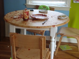 The Ketchup Bloodbath- it was much worse than it looks.