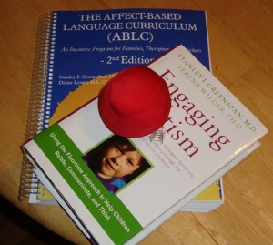 Stress ball we played with, Engaging Autism and The Affect-Based Language Curriculum by Stanley Greenspan
