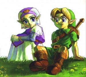 Princess Zelda & Link (the main characters of The Legend of Zelda)
