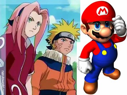 Who we dressed up as this year- Sakura, Naruto, and Mario